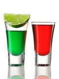 Cocteles de la bebida del tiro imagen de archivo