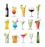 Cocteles de lujo de la bebida