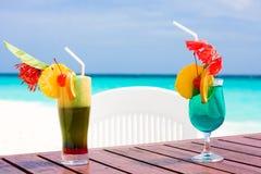 Cocteles en la playa Foto de archivo