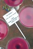 Cocteles rosados Fotos de archivo libres de regalías