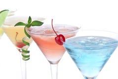 Cocteles tropicales de Martini con la vodka Fotografía de archivo libre de regalías