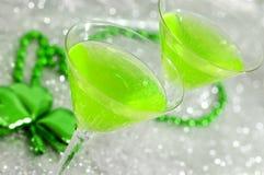 Cocteles verdes Imagen de archivo libre de regalías