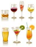 Cocteles y bebidas ilustración del vector