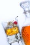 Coctkail et décanteur Photo stock