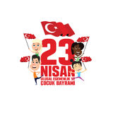 Cocuk baryrami 23 nisan. Vector illustration of the cocuk baryrami 23 nisan , translation: Turkish April 23 National Sovereignty and Children`s Day, graphic Stock Images