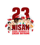 Cocuk baryrami 23 nisan. Vector illustration of the cocuk baryrami 23 nisan , translation: Turkish April 23 National Sovereignty and Children`s Day, graphic Royalty Free Stock Photos