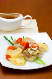 Cod baked with vegetables Stock Photography