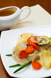 Cod baked with vegetables Royalty Free Stock Photo