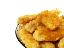 Cod in batter isolated Royalty Free Stock Photo