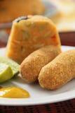 Cod Cake (Brazilian bolinho de bacalhau) Stock Images