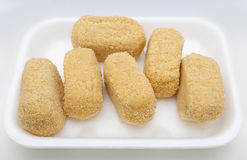 Cod croquettes Stock Images