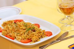Cod dish - bacalhau Stock Images