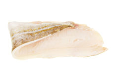 Cod fillet. Fresh fillet of cod isolated against white stock photography