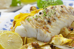 Cod Fillet Loin Stock Images