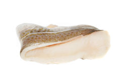 Cod fillet on white royalty free stock image