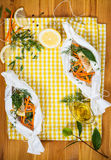 Cod fillets with vegetables Royalty Free Stock Photography