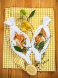 Cod fillets with vegetables Royalty Free Stock Images