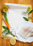 Cod fillets with vegetables Royalty Free Stock Image