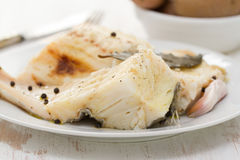 Cod fish with black pepper Stock Photos