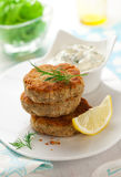 Cod Fish Cakes Stock Image