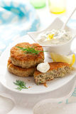Cod Fish Cakes Stock Photos