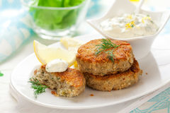Cod Fish Cakes Royalty Free Stock Photography