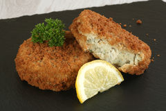 Cod fish cakes Stock Photography