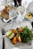 Cod fish croquette appetizer Royalty Free Stock Photo