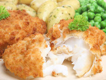 Cod Fish Fillet Meal Royalty Free Stock Photos