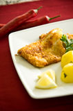 Cod fish fillet with potatoes Royalty Free Stock Photos