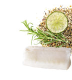 Cod Fish Fillets. On White Background Stock Image