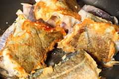 Cod fish - fish fillets - to pan-fry sth Stock Photo