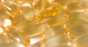Cod fish liver oil tablets Stock Images
