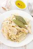 Cod fish on plate Royalty Free Stock Images