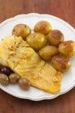 Cod fish with potato Stock Photo