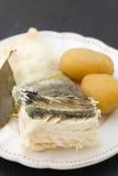 Cod fish with potato Stock Image