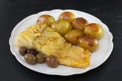 Cod fish with potato Royalty Free Stock Photo