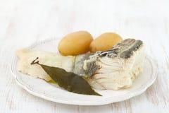 Cod fish with potato Royalty Free Stock Photos