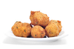 Cod fritters Stock Photography
