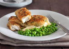 Cod with herb bread crust Royalty Free Stock Photography