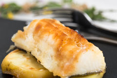 Cod with honey Stock Images