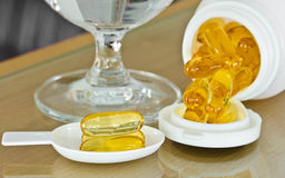 Cod liver oil. Royalty Free Stock Photography