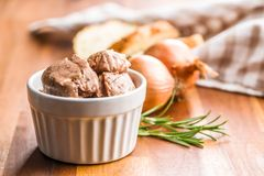 Cod liver in oil. royalty free stock photography