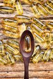 Cod liver oil capsules Royalty Free Stock Photography