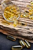 Cod liver oil capsules Royalty Free Stock Image