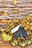 Cod liver oil capsules Stock Photography