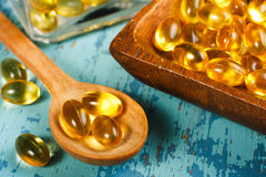 Cod Liver Oil Capsules stock images