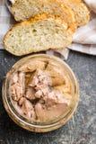 Cod liver in oil. stock image