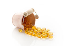 Cod-liver oil. Stock Images