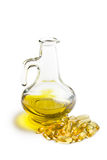 Cod liver oil. Gel capsules Royalty Free Stock Photography